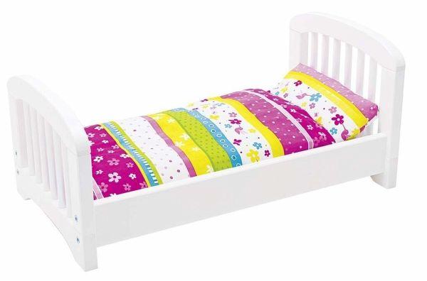Puppenetagenbett Weiß : Goki puppenbett susibelle mit bettzeug weiß bei bücher