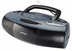Grundig RRCD 1400 tragbarer CD Player grau/schwarz