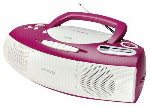 grundig rrcd 1400 pink tragbarer cd player weiss. Black Bedroom Furniture Sets. Home Design Ideas
