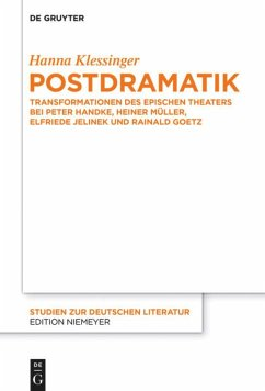 Postdramatik - Klessinger, Hanna