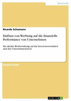 Einfluss von Werbung auf die finanzielle Performance von Unternehmen (eBook, PDF)