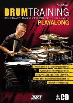 Drum Training Playalong + MP3-CD - Metzger, Patrick