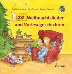 24 Weihnachtslieder und Vorlesegeschichten - Jentgens, Stephanie; Tiggemann, Susanne