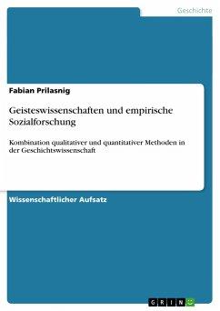 Geisteswissenschaften und empirische Sozialforschung