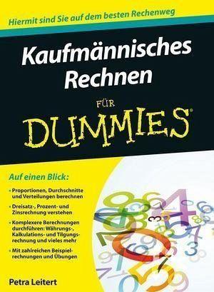 Kaufmännisches Rechnen Für Dummies Ebook Pdf Von Petra Leitert