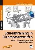 Schreibtraining in 3 Kompetenzstufen - Band 1 (eBook, PDF)