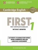 Cambridge English First 1 for Revised Exam from 2015 Student's Book without Answers