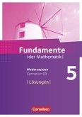 Fundamente der Mathematik 5. Schuljahr. Lösungen zum Schülerbuch. Gymnasium Niedersachsen