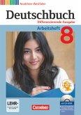 Deutschbuch 8. Schuljahr. Arbeitsheft mit Lösungen und Übungs-CD-ROM. Differenzierende Ausgabe Nordrhein-Westfalen