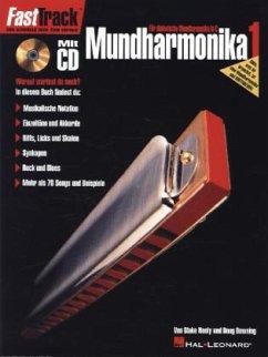 FastTrack Mundharmonika, m. Audio-CD - Neely, Blake; Downing, Doug