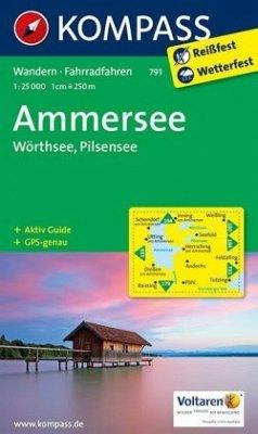 KOMPASS Wanderkarte Ammersee - Wörthsee - Pilsensee