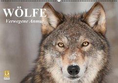 Wölfe. Verwegene Anmut (Wandkalender immerwährend DIN A2 quer)