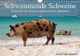 Schwimmende Schweine / Geburtstagskalender (Wandkalender immerwährend DIN A4 quer)
