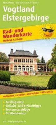 PublicPress Rad- und Wanderkarte Vogtland, Elst...