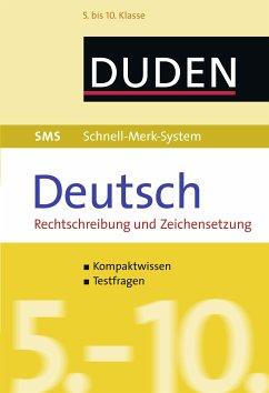 SMS Deutsch - Rechtschreibung und Zeichensetzung 5.-10. Klasse (eBook, ePUB) - Fahlbusch, Claudia; Hock, Birgit