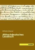 Althochdeutsches Lesebuch