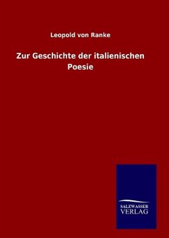 9783846094822 - Ranke, Leopold von: Zur Geschichte der italienischen Poesie - Buch