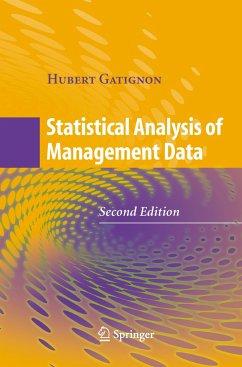 Statistical Analysis of Management Data - GATIGNON, Hubert