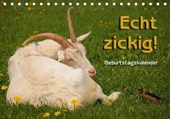 Echt zickig! / Geburtstagskalender (Tischkalender immerwährend DIN A5 quer)