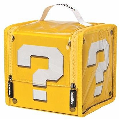 amiibo super mario question block case tasche f r. Black Bedroom Furniture Sets. Home Design Ideas