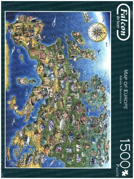 Jumbo 11057 - Falcon de Luxe, Map of Europe, 1500 Teile, Puzzle ...