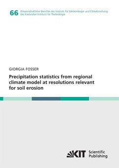 Precipitation statistics from regional climate model at resolutions relevant for soil erosion