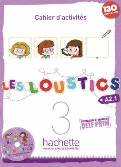Cahier d'activités mit Audio-CD / Les Loustics Bd.3 - Capouet, Marianne