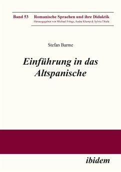 Einführung in das Altspanische (eBook, ePUB) - Barme, Stefan