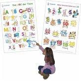 Das ABC der Tiere + Meine tierischen Zahlen von 1-20, 2 Poster