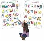 Das bunte Kinder-ABC + Meine tierischen Zahlen von 1-20, 2 Poster