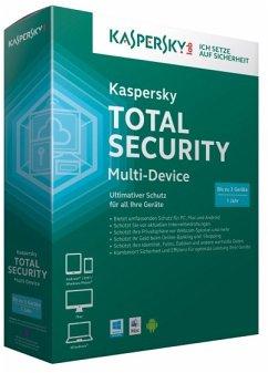 Kaspersky Total Security Multi-Device (3 Geräte/1 Jahr) - Ultimativer Schutz für PC, MAC und ANDROID