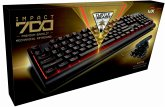 Turtle Beach IMPACT 700 Premium Backlit Mechanical Gaming Keyboard kabelgebunden - für PC und Mac (DE-Layout)