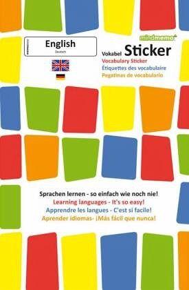 Mindmemo Vokabel Sticker Grundwortschatz Englisch Deutsch 280 Vokabel Aufkleber Zusammenfassung