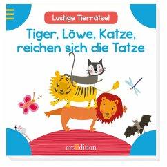 Tiger, Löwe, Katze, reichen sich die Tatze (Män...