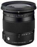 Sigma 2,8-4/17-70 DC OS HSM C/AF Makr Zoom-Objektiv für Canon (72 mm Filtergewinde, APS-C Sensor)