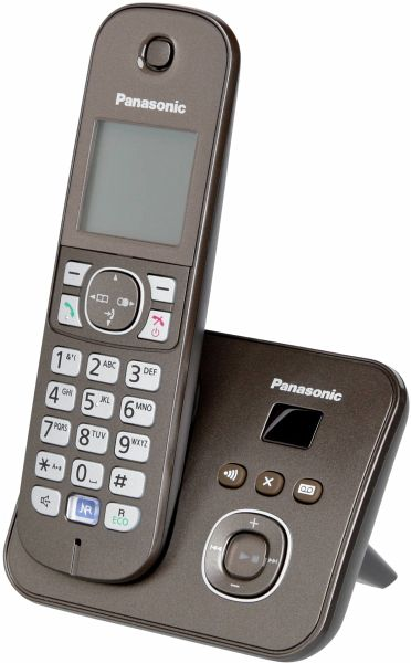 panasonic kx tg6821ga mocca telefon schnurlos braun portofrei bei b kaufen. Black Bedroom Furniture Sets. Home Design Ideas
