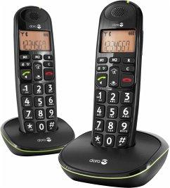 Doro PhoneEasy 100 w Duo Telefon schnurlos schwarz