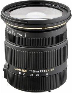 Sigma EX 2,8/17-50 DC OS N/AF HSM Zoom-Objektiv für Nikon (77 mm Filtergewinde, APS-C Sensor)