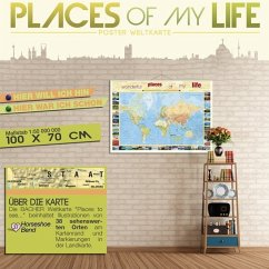 Places to See (klein), Poster Weltkarte