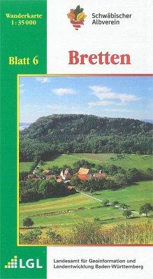 Topographische Wanderkarte Baden-Württemberg Bretten