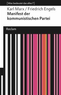 Manifest der kommunistischen Partei (eBook, ePUB) - Marx, Karl; Engels, Friedrich