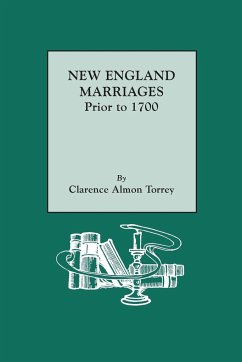 New England Marriages Prior to 1700