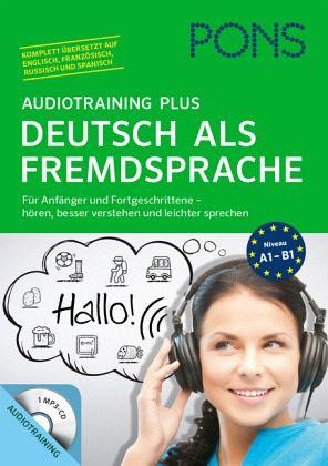 pons audiotraining plus deutsch als fremdsprache mp3 cd begleitbuch h rb cher portofrei bei. Black Bedroom Furniture Sets. Home Design Ideas