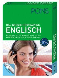 PONS Das große Hörtraining Englisch, Buch und 6 Audio+MP3-CD