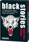 Moses MOS00801 - Black stories, Dark Tales Edition, 50 Rabenschwarze Rätsel, Das Krimi Kartenspiel, Familienspiel