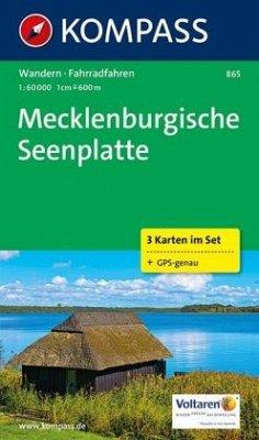 Kompass Karte Mecklenburgische Seenplatte, 3 Bl.