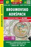 Wanderkarte Tschechien Broumovsko, Adrspach 1 : 40 000