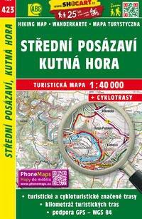 Wanderkarte Tschechien Stredni Posazavi, Kutna Hora 1 : 40 000