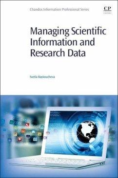 Managing Scientific Information and Research Data - Baykoucheva, Svetla