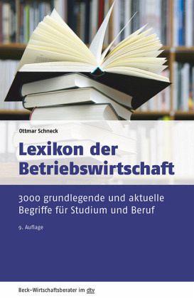 Lexikon der betriebswirtschaft als taschenbuch portofrei for Betriebswirtschaft studium